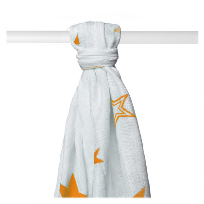 Bambusová osuška XKKO BMB 90x100 - Orange Stars