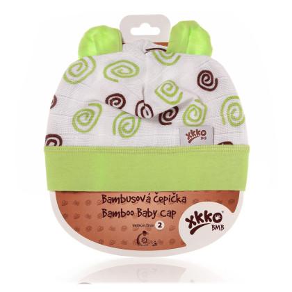 Bambusová čiapočka XKKO BMB - Lime Spirals
