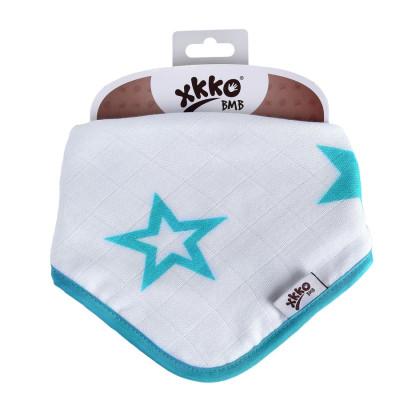 Bambusová šatka XKKO BMB - Turquoise Stars