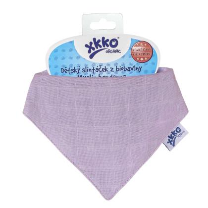 Šatka XKKO Organic Staré časy - Ultra Violet