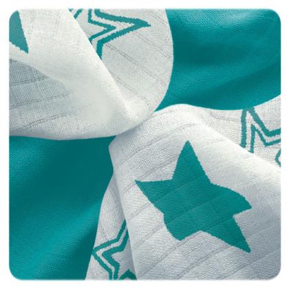 Bambusové obrúsky XKKO BMB 30x30 - Turquoise Stars MIX