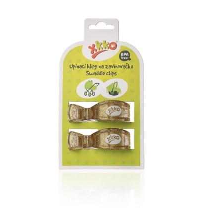 XKKO Klipy na kočík 2ks  - Metallic Gold