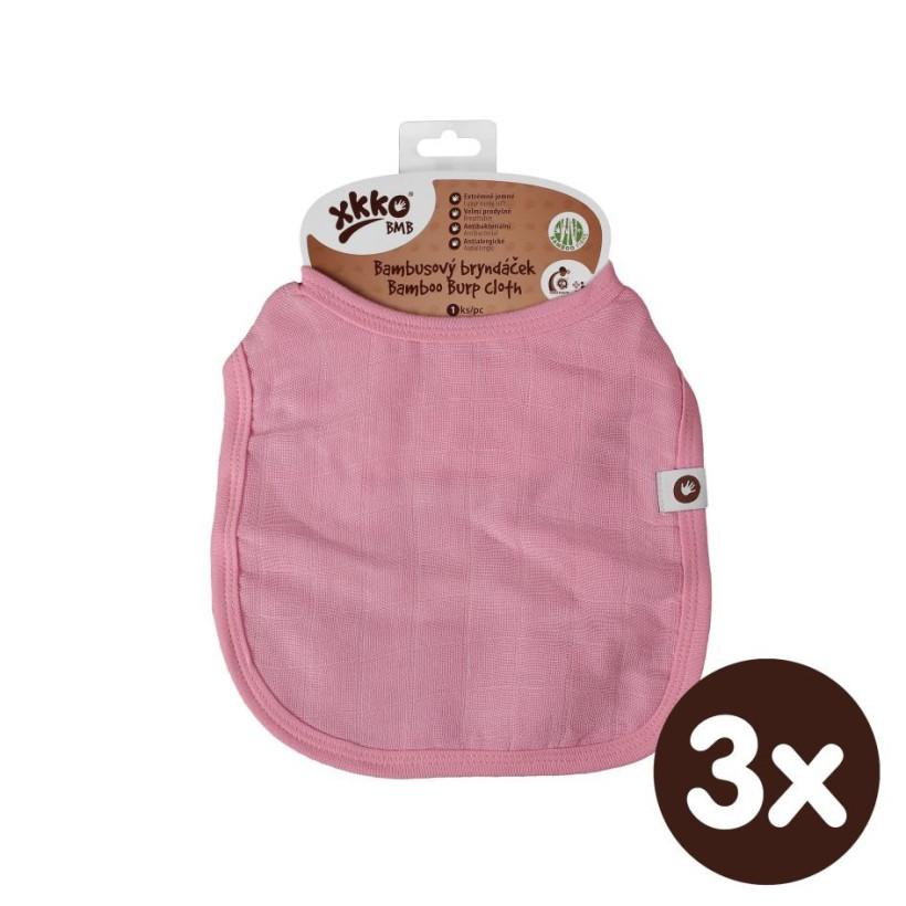 Bambusový podbradník XKKO BMB - Baby Pink 3x1ks VO bal.