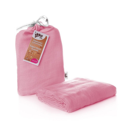 Bambusová zavinovačka XKKO BMB 120x120 - Baby Pink