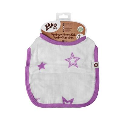 Bambusový podbradník XKKO BMB - Lilac Stars