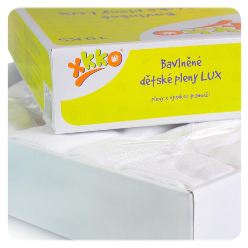 Vysokogramážné detské plienky XKKO LUX 80x80 - Biele 20x10ks VO bal.