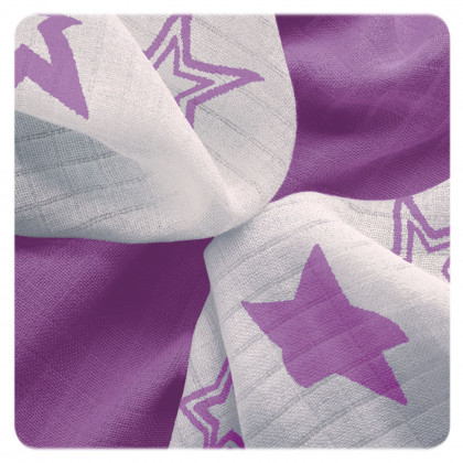 Bambusové obrúsky XKKO BMB 30x30 - Lilac Stars MIX