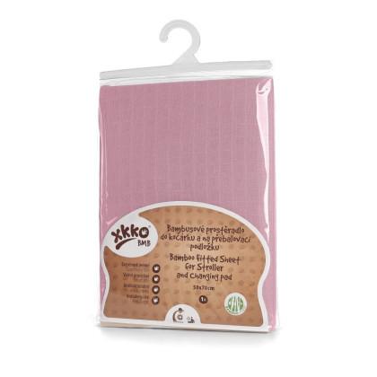 Bambusové prestieradlo XKKO BMB 50x70 - Baby Pink
