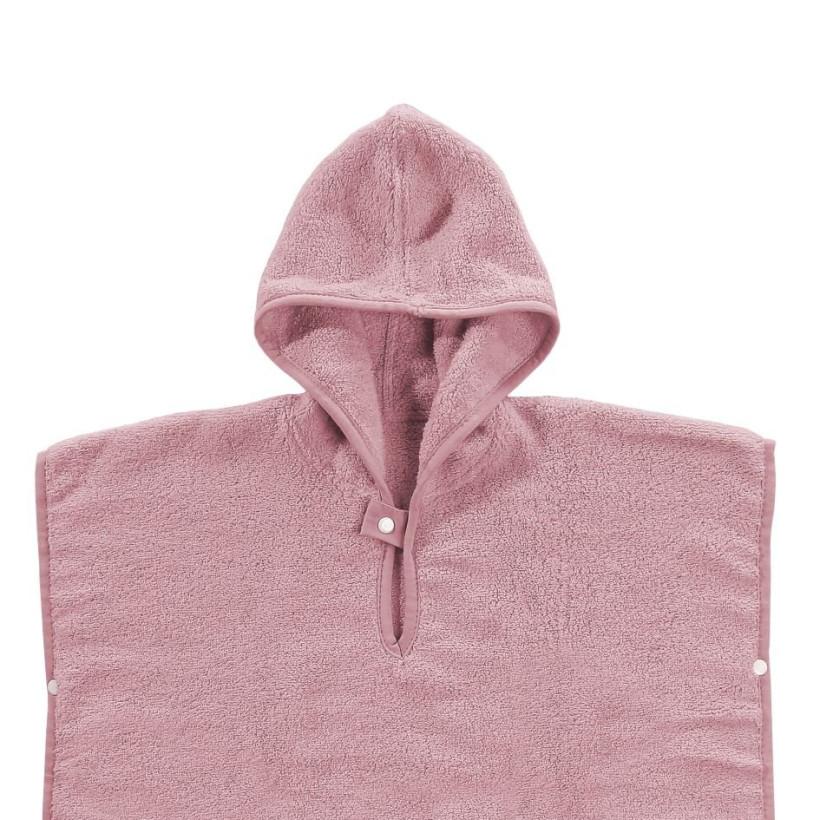 BIO Bavlnené pončo XKKO Organic - Baby Pink Stars