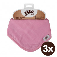 Bambusová šatka XKKO BMB - Baby Pink 3x1ks VO bal.