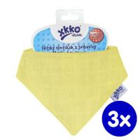 Šatka XKKO Organic Staré časy - Wax Yellow 3x1ks VO bal.
