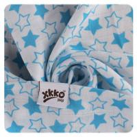 Bambusové plienky XKKO BMB 70x70 - Little Stars Cyan MIX 10x3ks VO bal.