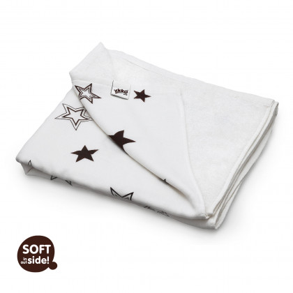 Bambusová deka XKKO BMB 130x70 - Natural Brown Stars