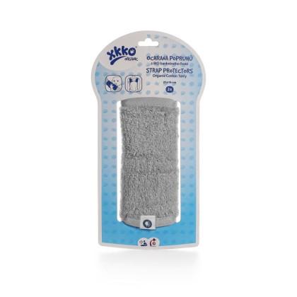 Ochrana popruhov nosidla alebo autosedačky XKKO Organic – Silver