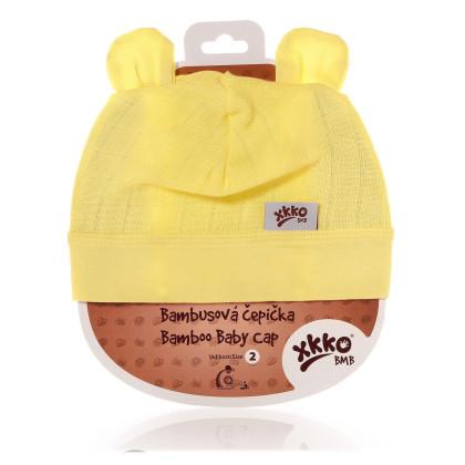 Bambusová čiapočka XKKO BMB - Lemon