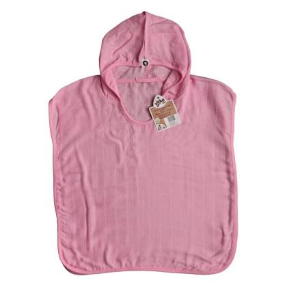 Bambusové pončo XKKO BMB - Baby Pink