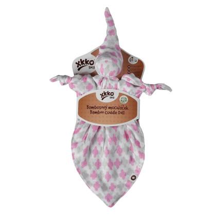 Bambusový maznáčik XKKO BMB - Baby Pink Cross