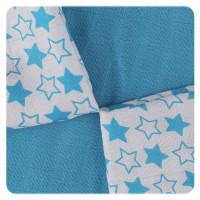 Bambusové obrúsky XKKO BMB 30x30 - Little Stars Cyan MIX 10x9ks VO bal.