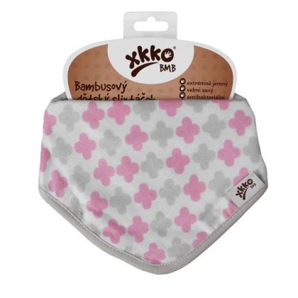 Bambusová šatka XKKO BMB - Scandinavian Baby Pink Cross