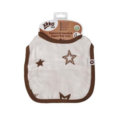 Bambusový podbradník XKKO BMB - Natural Brown Stars