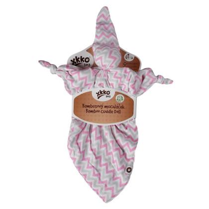 Bambusový maznáčik XKKO BMB - Baby Pink Chevron