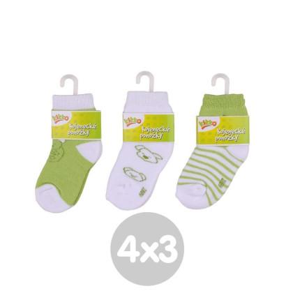 Ponožky KIKKO Classic - Typ 57 12 párov
