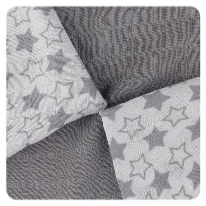 Bambusové obrúsky XKKO BMB 30x30 - Little Stars Silver MIX