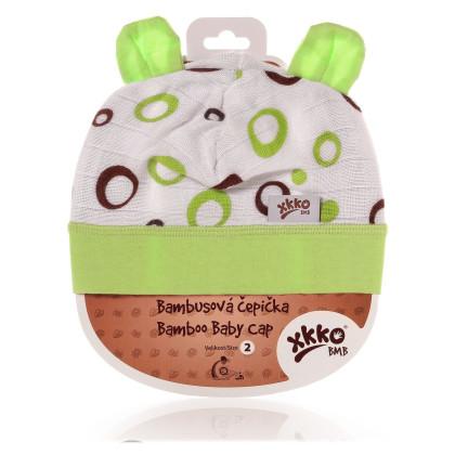 Bambusová čiapočka XKKO BMB - Lime Bubbles