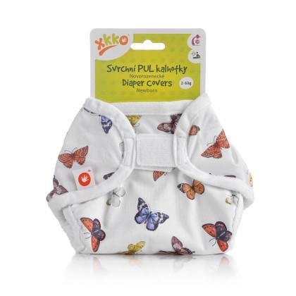 Vrchné plienkové nohavičky XKKO Newborn - Butterflies