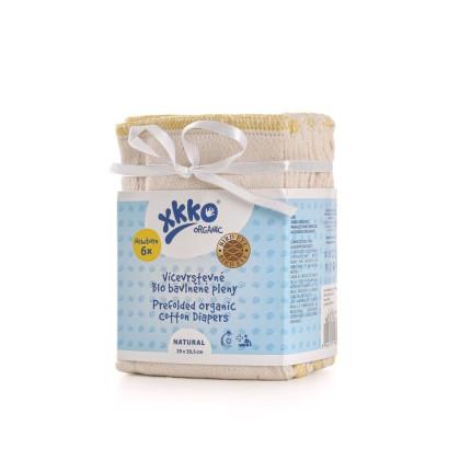 Viacvrstvé plienky XKKO Organic (4/6/4) - BirdEye Newborn Natural