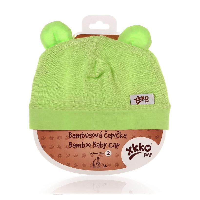 Bambusová čiapočka XKKO BMB - Lime