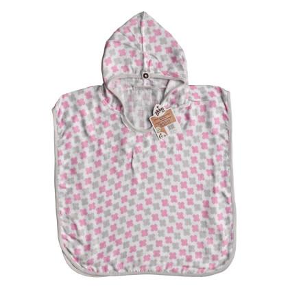 Bambusové pončo XKKO BMB - Cross Baby Pink