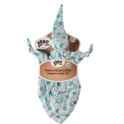 Bambusový maznáčik XKKO BMB - Little Stars Turquoise