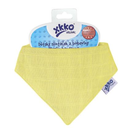 Šatka XKKO Organic Staré časy - Wax Yellow