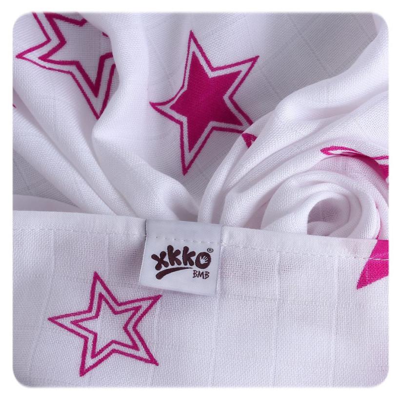 Bambusová osuška XKKO BMB 90x100 - Magenta Stars  10x1ks VO bal.
