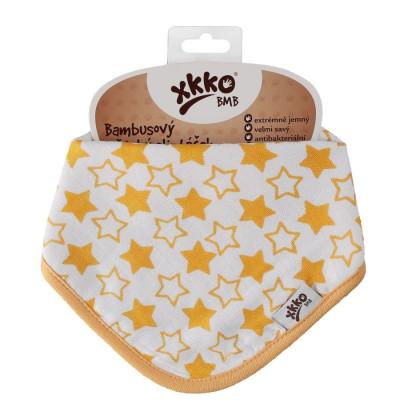 Bambusová šatka XKKO BMB - Little Stars Orange