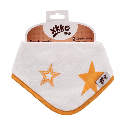 Bambusová šatka XKKO BMB - Orange Stars