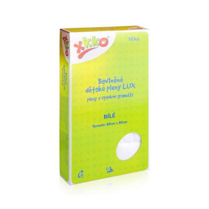 Vysokogramážné detské plienky XKKO LUX 80x80 - Biele