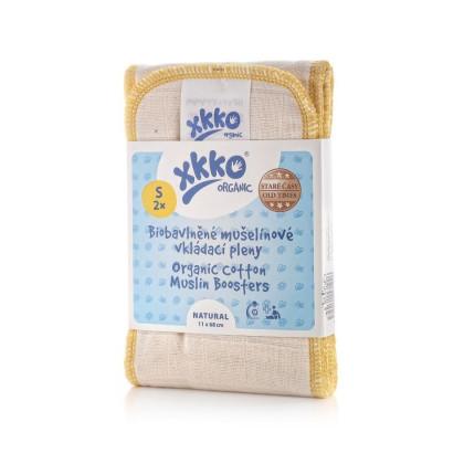 Vkladacie plienky XKKO Organic Old Times - Natural Veľkosť S (2ks)