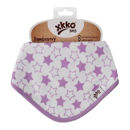 Bambusová šatka XKKO BMB - Little Stars Lilac