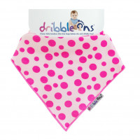 Dribble Ons Designer Pink Spots