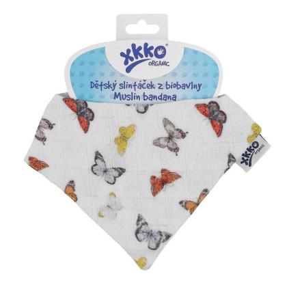 Šatka XKKO Organic - Butterflies