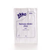 Bavlnené detské plienky XKKO Classic 70x70 - Biele