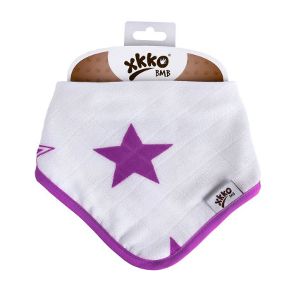 Bambusová šatka XKKO BMB - Lilac Stars