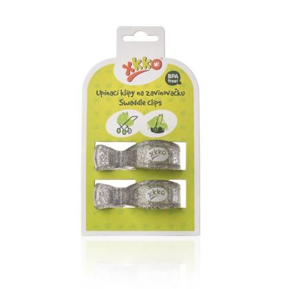 XKKO Klipy na kočík 2ks  - Metallic Silver