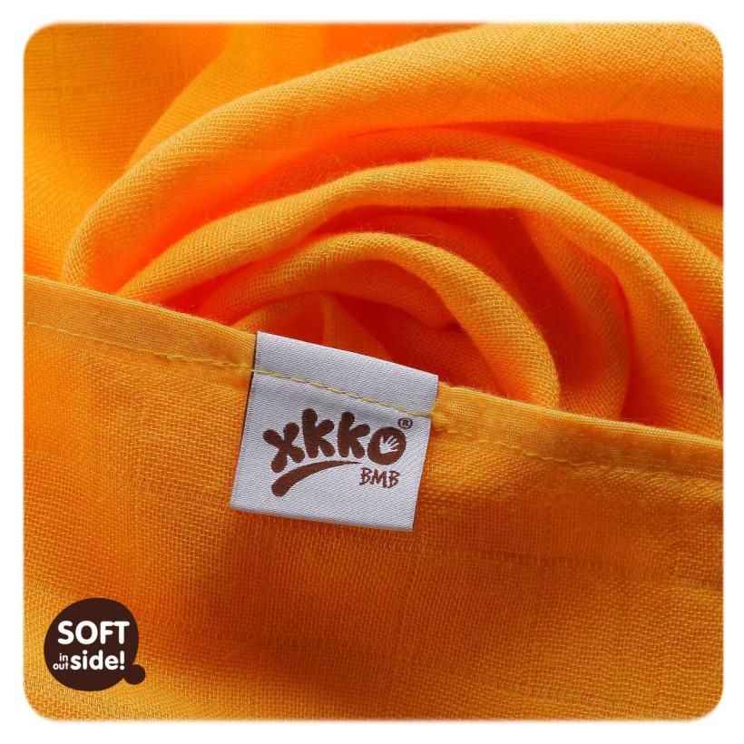 Bambusové plienky XKKO BMB 70x70 - Orange Stars MIX 3ks