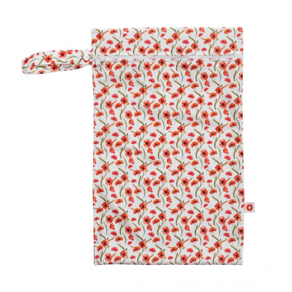 Nepremokavé vrecko XKKO Veľkosť M - Red Poppies