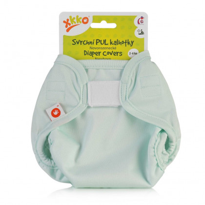 Vrchné plienkové nohavičky XKKO Newborn - Pastel Mint