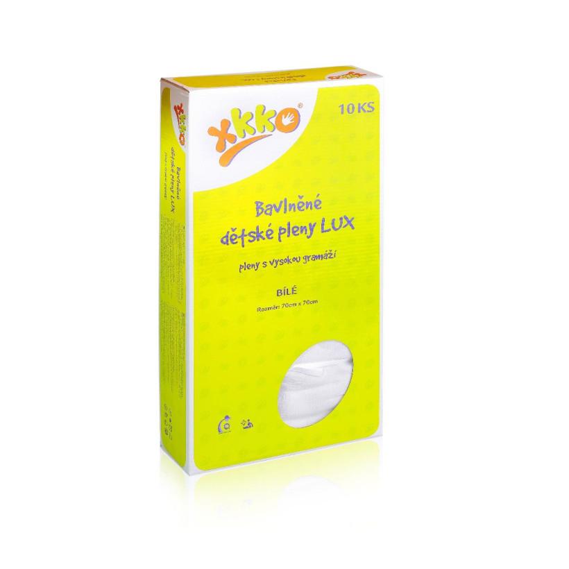 Vysokogramážné detské plienky XKKO LUX 70x70 - Biele