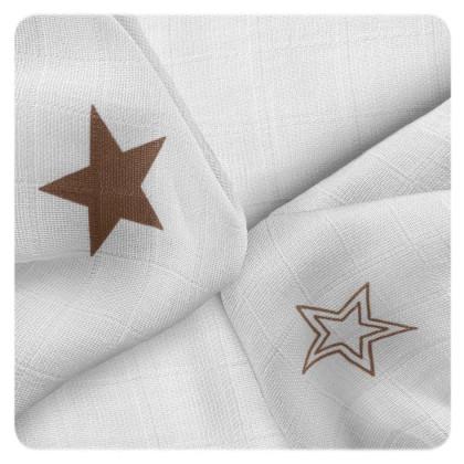 Bambusové obrúsky XKKO BMB 30x30 - Natural Brown Stars MIX